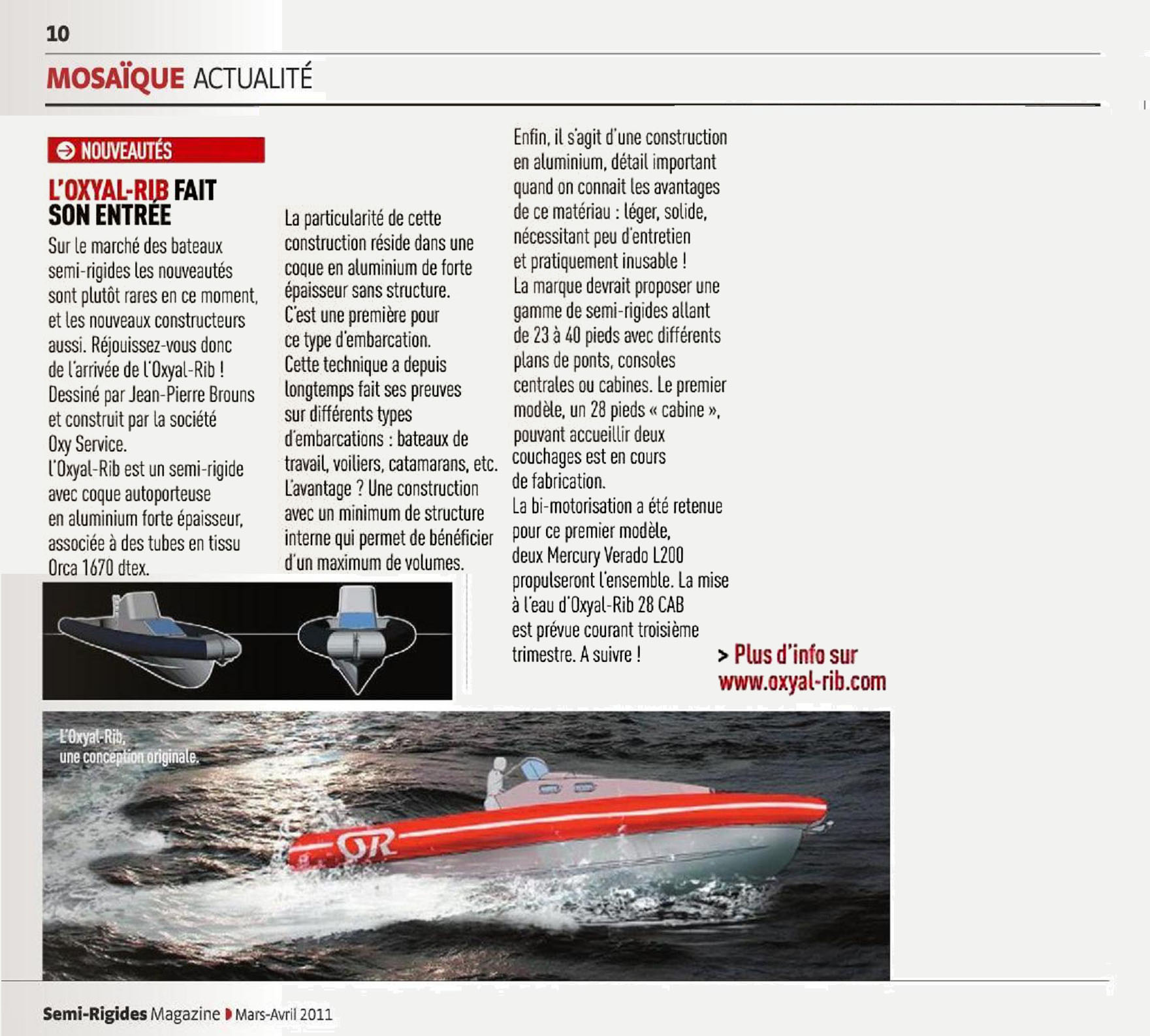 Semi-rigide Magazine Mars 2011